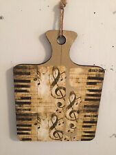 """Wooden Musical Music Note Piano Key Plaque 11""""x15"""" Wall Hanging Decor Art"""