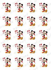 20 DISNEY CHRISTMAS NAIL DECALS * MICKEY w/ CANDY CANE *  WATER SLIDE NAIL DECAL