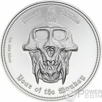 LUNAR SKULLS Monkey Chinese Year 1 Oz Proof Silver Coin 5$ Palau 2016