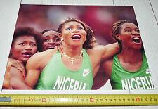 PHOTO 1992 JEUX OLYMPIQUES BARCELONE NIGERIA FEMMES 4 X 100 M BARCELONA 92