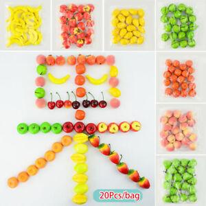 20PCS Mini Simulation Foam Plastic Fake Artificial Fruit Party Kitchen Decor Top