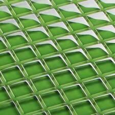 mosaïque céramique carrelage verre transparent vert 23 x 23 x 8 mm