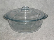 Fire King Marked Sapphire Blue Philbe Individual Casserole Bowl Dish With Lid