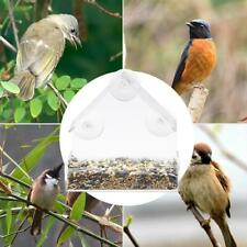 Acrylic Transparent Window Bird Feeder Large Weather Suction Cups Birds House