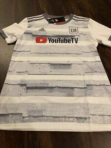 New Adidas Womens Los Angeles FC LA Soccer Jersey Size Small White