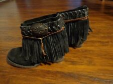 FREEBIRD CHIEF BLACK LEATHER WESTERN ANKLE BOOTS SIZE 7 By Steven