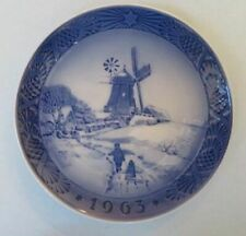 Royal Copenhagen Christmas plate, 1963, Windmill