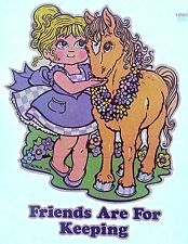 Vintage 1974 Original RoAcH Friends are for Keeping Iron On Transfer Pony RARE!
