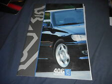 1996 Peugeot 406 Full Line Color Brochure Catalog Prospekt