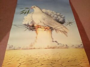 VINTAGE 80s ATHENA CLASSIC PEACE DOVE POSTER - NEAR MINT CONDITION