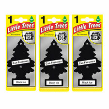 3 x Magic TreeS Little Trees Car Home Air Freshener Freshner Scent - BLACK ICE