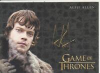 Game Of Thrones Valyrian Steel GOLD AUTOGRAPH card ALFIE ALLEN - THEON GREYJOY