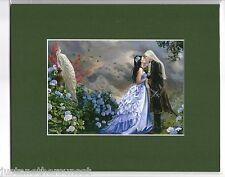 Nene Thomas Matted Print Fairy Faery Lovers White Peacock Wedding Bride Groom GN