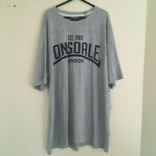 Para Hombres Camiseta Gris 3XL Sportswear Gimnasio Deporte LONSDALE