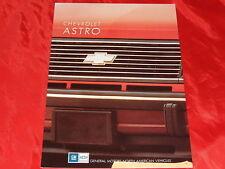 CHEVROLET Astro Passenger + Cargo Prospekt von 1990