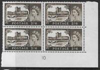 Sg759 No WMark Bradbury/Wilkinson Castles 2/6 Cyl Block 10 UNMOUNTED MINT/MNH