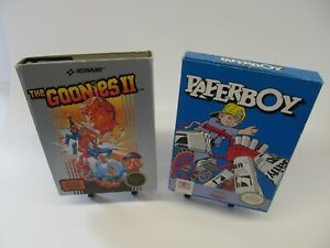 NES NINTENDO COMPLETE AUTHENTIC WITH BOXES/MANUAL, PAPER BOY, GOONIES 2