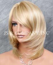 Stunning straight layered Full Wig Face Frame Hair Piece Blonde mix JSDD 24-613