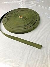 20 feet of 1 inch OLIVE DRAB OD cotton belt webbing straps crafts fashion