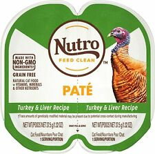NUTRO PERFECT PORTIONS Pate Turkey & Liver Wet Cat Food Tray, 2.65 Oz, 24 Twin