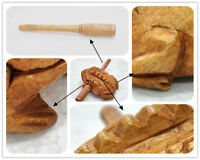 Thai Wooden Croaking Frog Instrument Musical Sound Handcraft with Mode nice