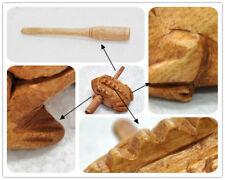 Thai Wooden Croaking Frog Instrument Musical Sound Handcraft with Mode Plsei