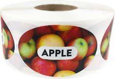 Apple Grocery Market Food Stickers, 1.25 x 2 Inches, 500 Labels on a Roll