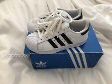 NIB Adidas Superstar C White/Black, Kids Size US 12  UK 11 1/2