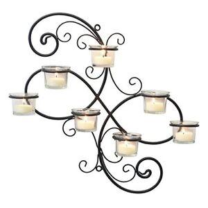 NEW Stonebriar Modern Decorative Ivy Tea Light Candle Holder Wall Sconce Black