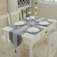 Thick Velvet Table Runner Diamante Napkin Cushion Cover Dinner Table Cloth Cover
