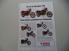 advertising Pubblicità 1979 MOTO YAMAHA RD 400/XS 400/XS 500/XT 500/SR/XS 750 E
