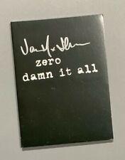 Zero 'Damn It All' DVD Signed by Jamie Thomas