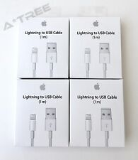 4x - OEM Apple iPhone 7 6 6s 6 Plus 5s Lightning USB Charger Cable 1M/ 3Ft