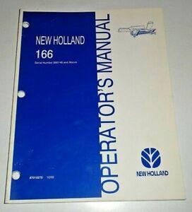 New Holland 166 Windrow Inverter Operators Maintenance Manual 10/02 NH Original!