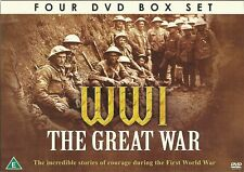 WWI THE GREAT WAR 4 DVD BOX SET INCREDIBLE STORIES OF COURAGE DURING WORLD WAR 1