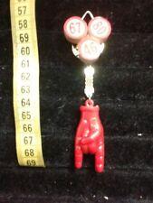 TARGA  corno rosso  portafortuna napoli con numeri lotto terno horn charms