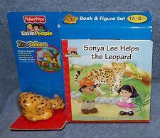 LITTLE PEOPLE ZOO TALKERS SONYA LEE HELPT DE LUIPAARD BOOK & ANIMAL SET DUTCH