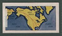 Theory of Origin of Native American Indians From Asia Vintage Trade Ad Card