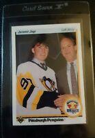 1990 UPPER DECK #356 JAROMIR JAGR ROOKIE CARD RC PITTSBURGH PENGUINS GEM MINT