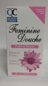 Quality Choice Feminine Douche, Tropical Breeze, 2 Units, 4.5 fl oz Each