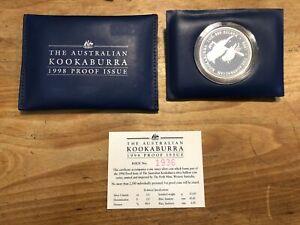1 Dollar Australien Kookaburra 1998 PP 1oz Silber Stückzahl 2.500