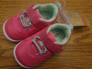 Surprise Stride Rite Ari sz 4 infant/toddler pink adjust. strap athetic  shoes