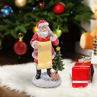 Outsunny–Statuetta Babbo Natale con Letterina Decorazione Natalizia in Resina