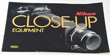 NIKON Close-Up Equipment - Mini Brochure - Circa F3 -