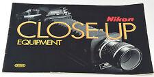 Nikon Close-Up-Attrezzature Brochure Mini-circa f3 -