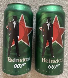 Heineken 440ml Limited Edition Beer Cans X 2 - James Bond 007 No Time To Die