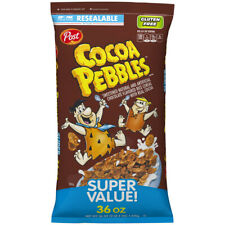 COCO PEBBLE GLUTEN FREE BREAKFAST CEREAL CHOCOLATE 36oz  BAG - PACK OF 5