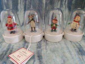 Hallmark Happy Tappers 2008 Complete Set of 4 - Reindeer, Snowman, Santa, Elf