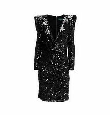 "Julian Joyce by Mandalay Strong Shoulder Sequined ""OMERO"" Dress Size 10 $1089"
