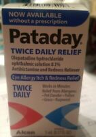 Alcon Pataday Twice Daily Eye Allergy Itch Relief Antihistamine Drops, 5 ml